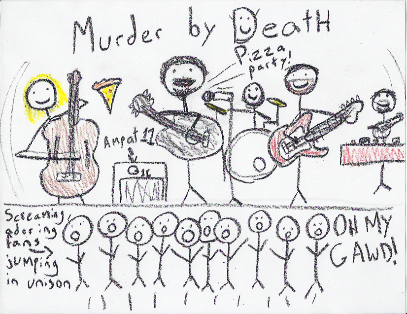 Murder by Death in Crayon